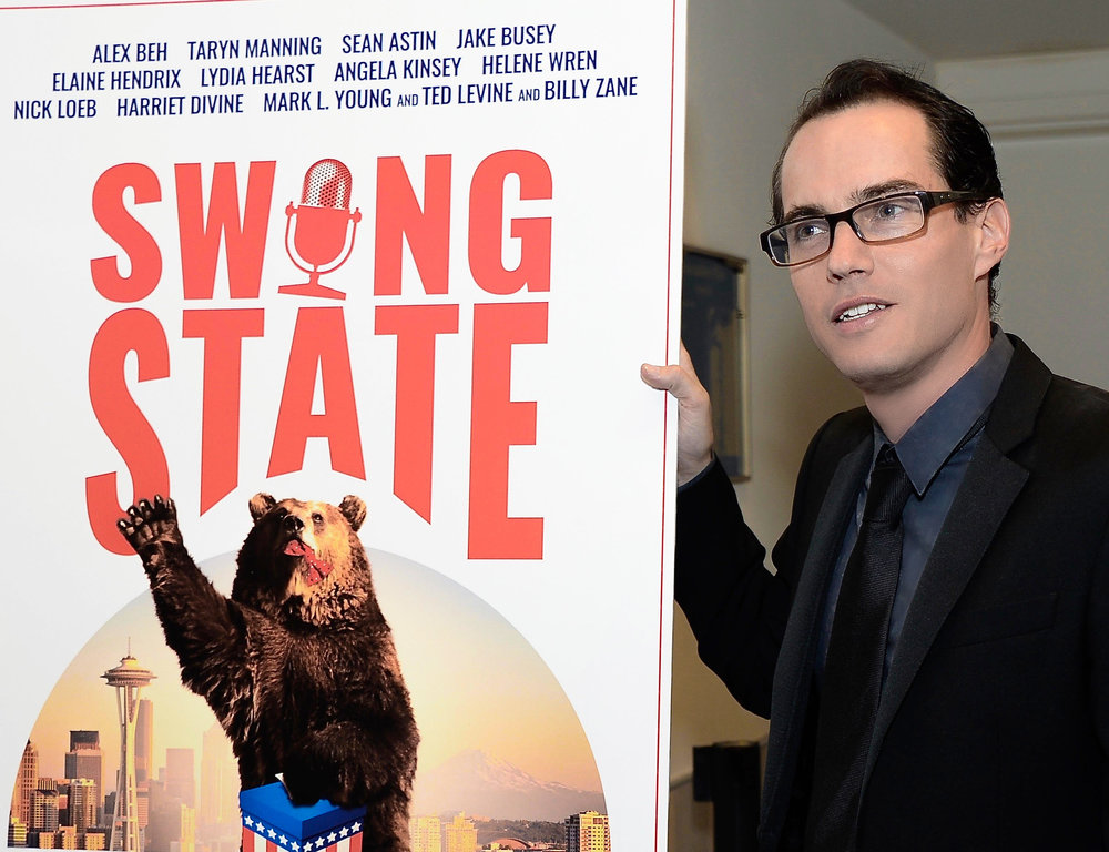 Swing State movie producer Jonathan Sheldon attends the Bring Hollywood Home Benefit.
