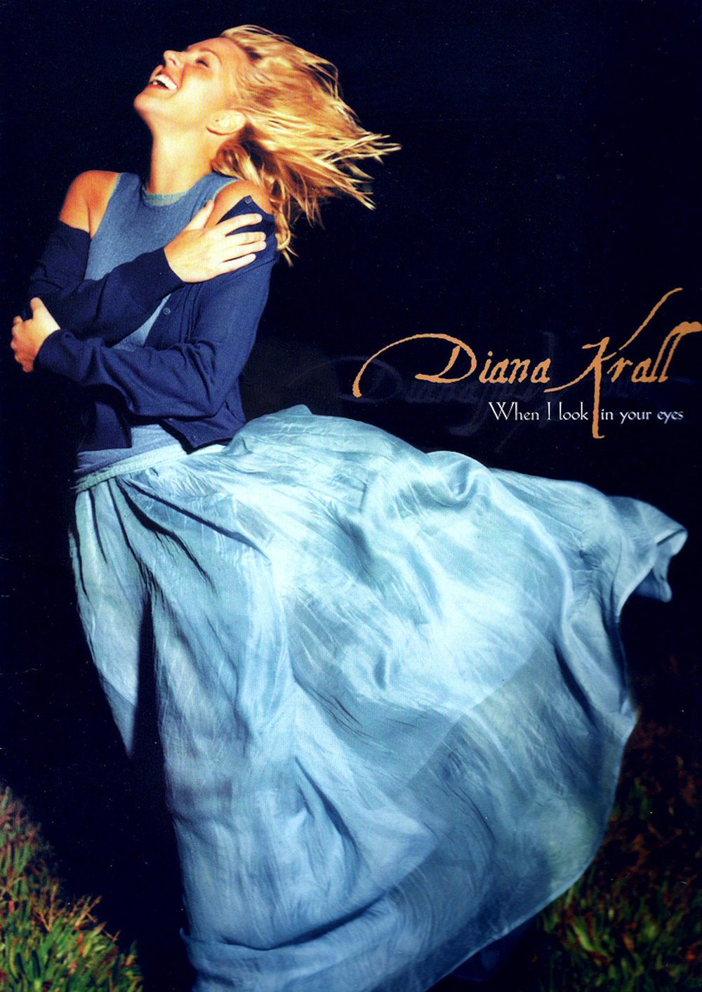 """On a cliff over looking the ocean, Jane Shirek tells Diana Krall to """"face into the wind,"""" and her 1999 platinum album cover is born."""