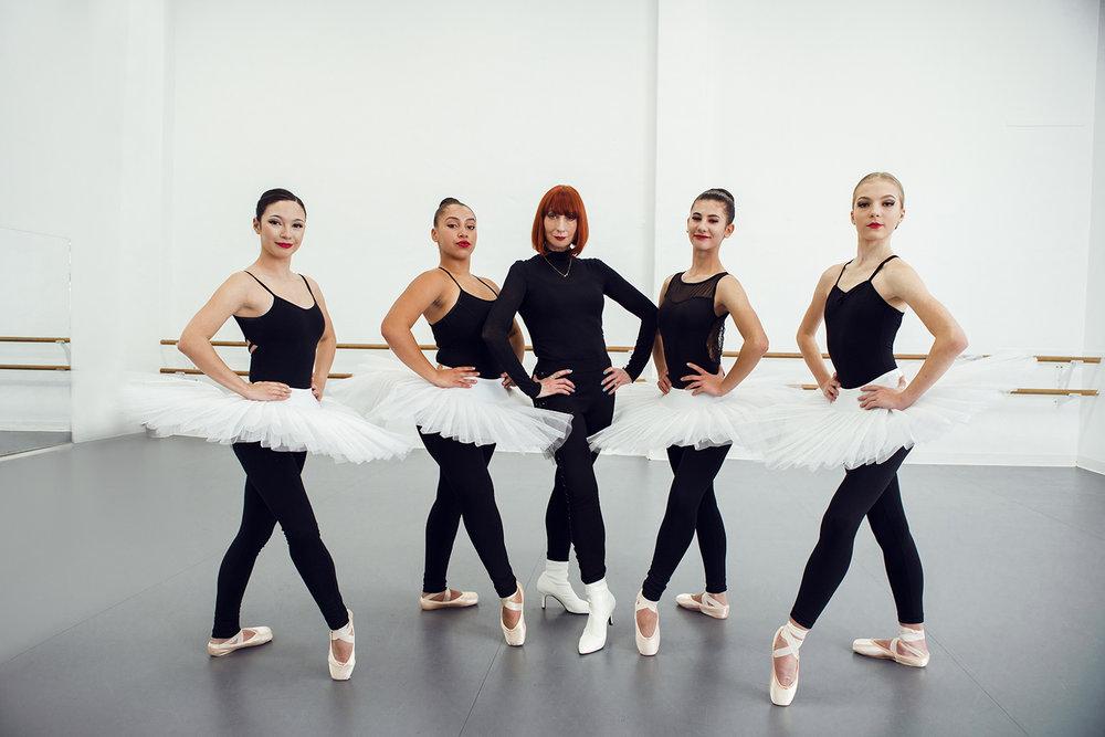 (L to R) Chelsea Salinas, Violeta Lemoh-Boghunovich, Cindy Bradley, Helena Ghekiere and Nicolette Tombu.