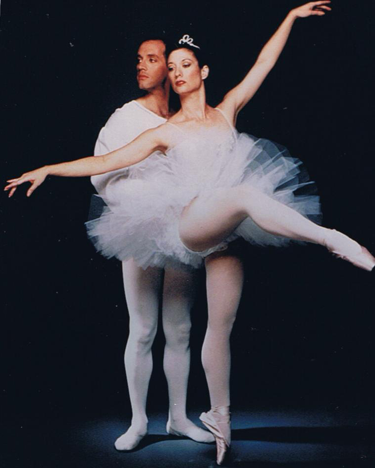 Patrick and Cindy Bradley dancing the Snow Pas de Deux in the 1991 Nutcracker in Palos Verdes. (December, 1991)