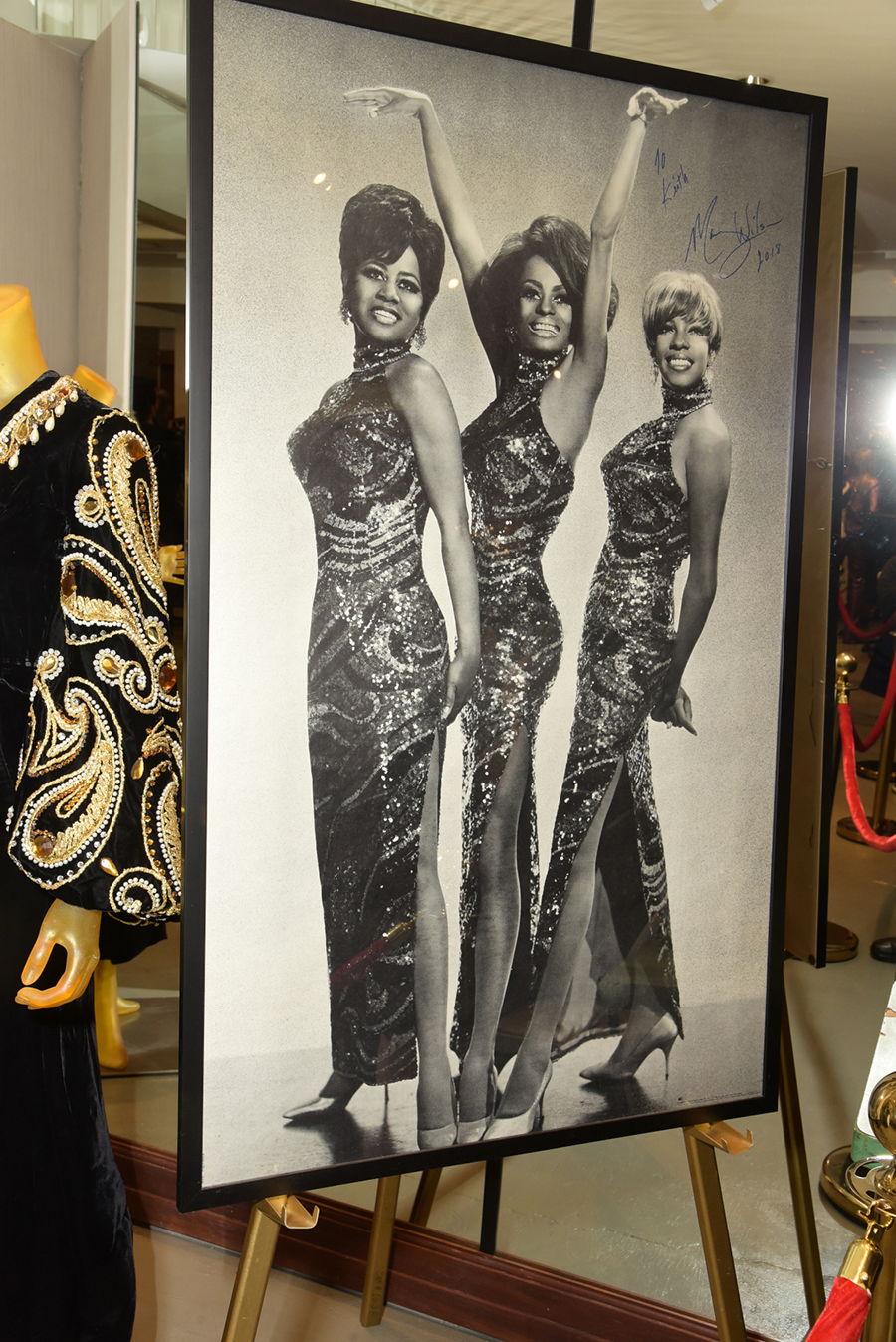 The Supremes portrait with Florence Ballard, Diana Ross and Mary Wilson.