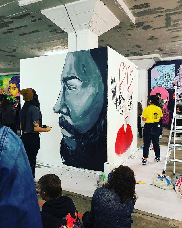 Support your local lady art powerhouses 🤘🏾@crissellem @mrbbaby @hellowelcomeart @allisonbamcat @alepsis.h @inspiredlbc @longbeacharts #welovelongbeach
