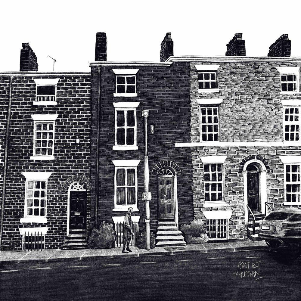 Liverpool Love Story | Mount Street | Original Art Print