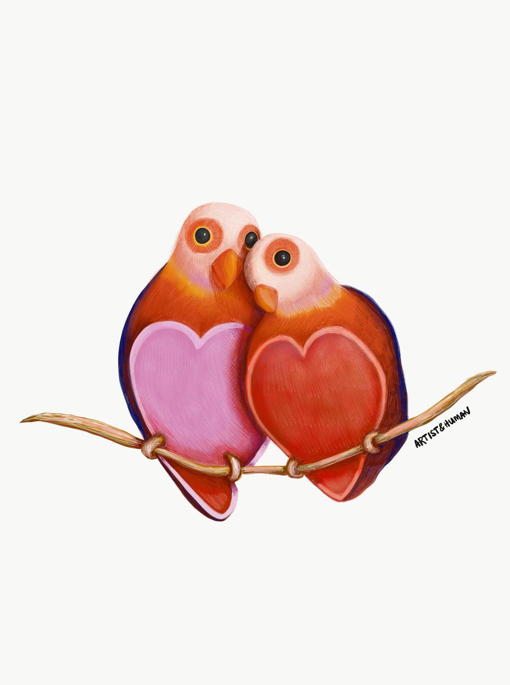 Byron Bay Love Bird II - Print