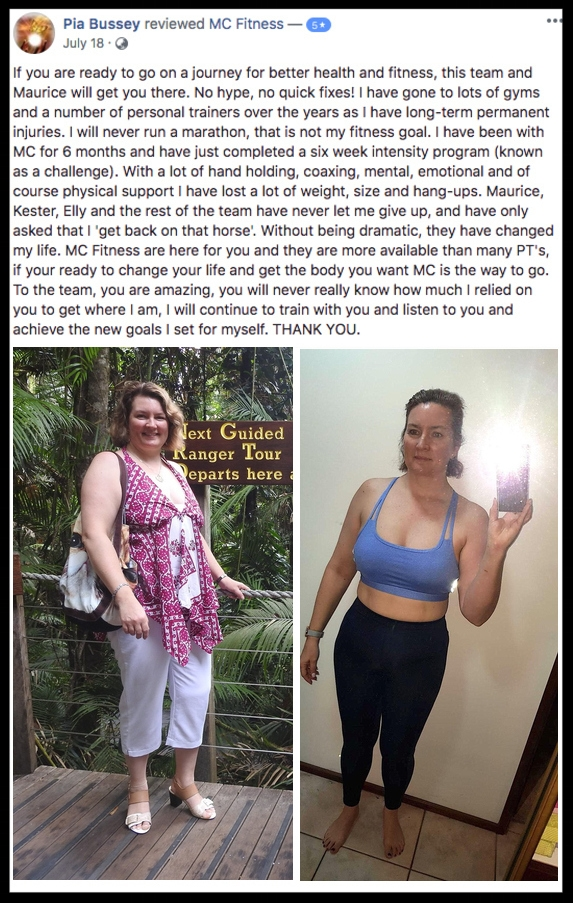 """Without being dramatic, MC Fitness has changed my life"" - PIA BUSSEY"
