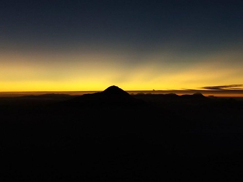 Amanecer desde el Volcán Tacána -  Cortesía Erick López