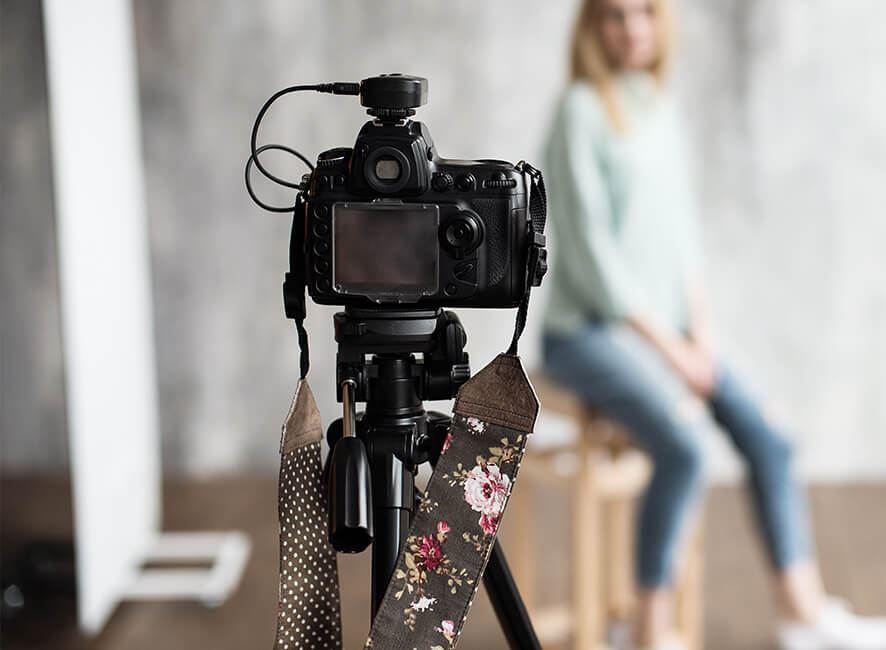 Photo studio setup backstage with camera in focus.jpg
