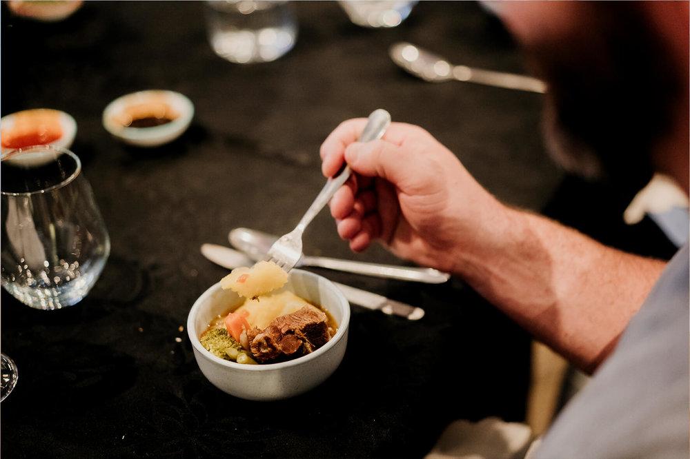 AmazingCo Refugee Degustation - Guests enjoying Perus' dish.jpg