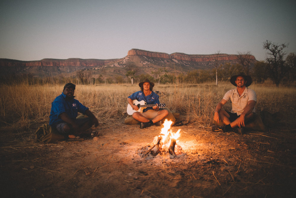 Nights around the 'bush tellie' with Calvin and the Honey Badger