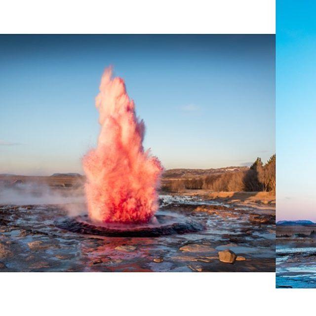 Pink State, 2015, Iceland #marcoevaristti #geyser #art #iceland🇮🇸