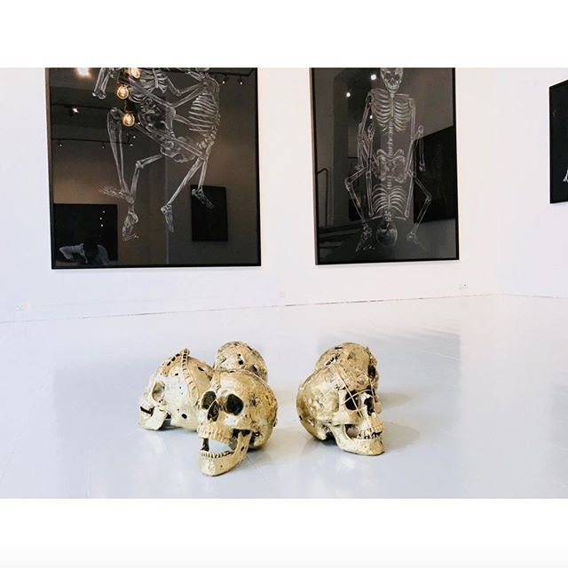 Skulls, made out of bronze. For sale at our studio. #art #skull #comtemporaryart #artforsale #marcoevaristti