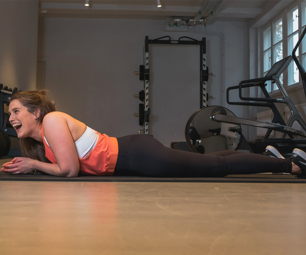 Plank position might give you abs, but so does laughing /Photo: Jānis Šaulis