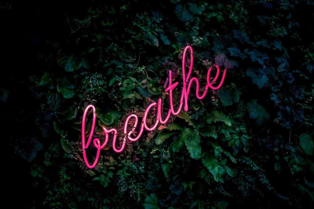 A deep breathe makes a big difference