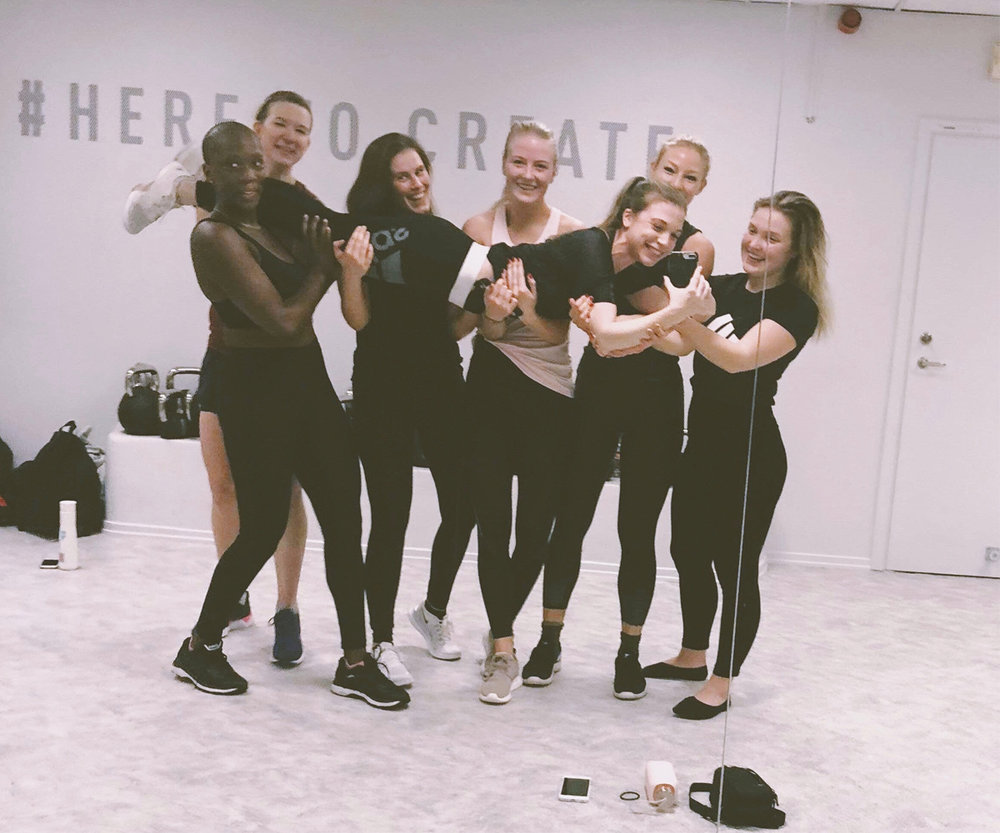 Last class with team Charlotte Beijer