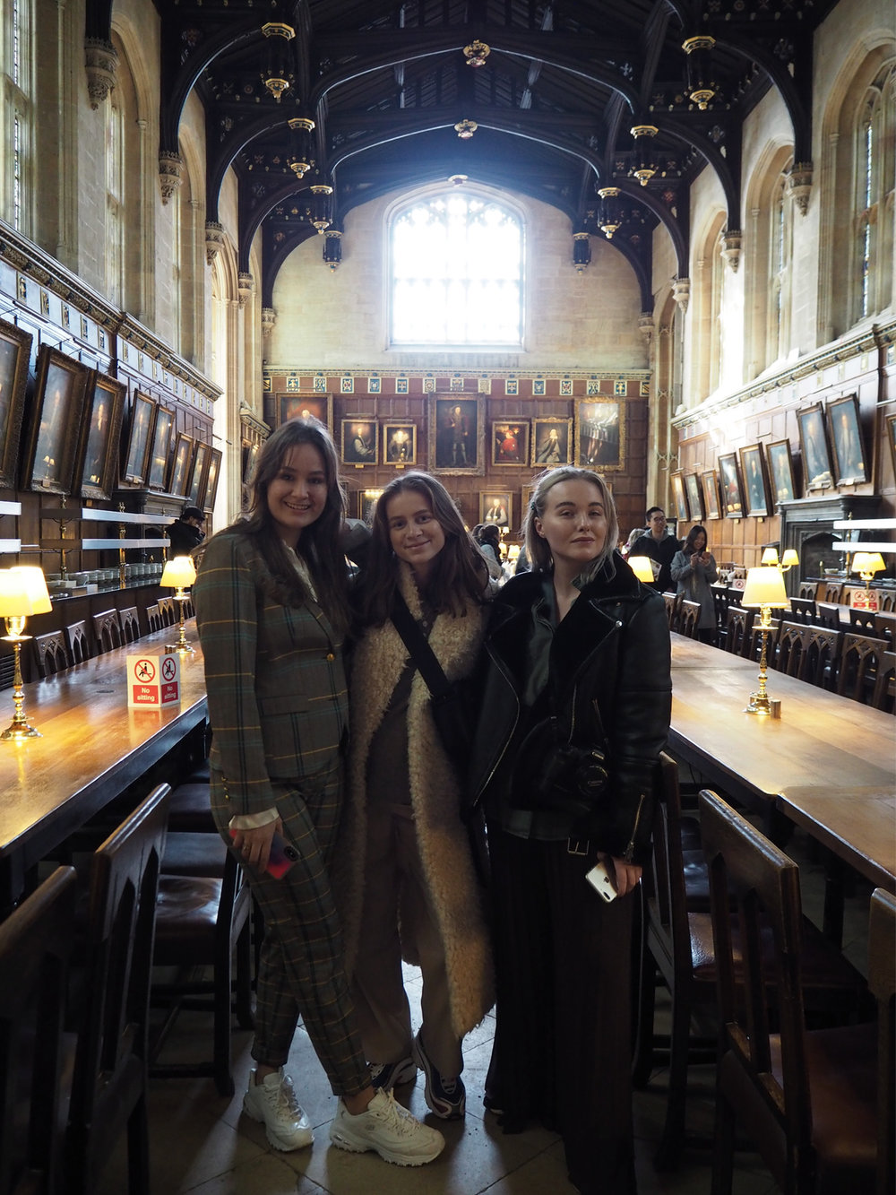 Milana, Emilie & Emilia. Can you imagine the students actually dining here in real life?