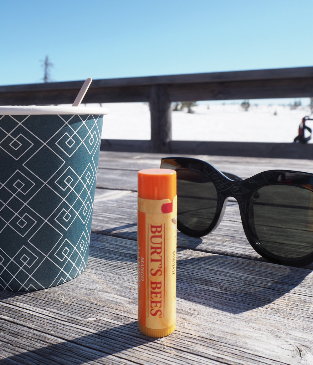 Burt´s Bees  came along, taking care of my poor lips drying out in that environment