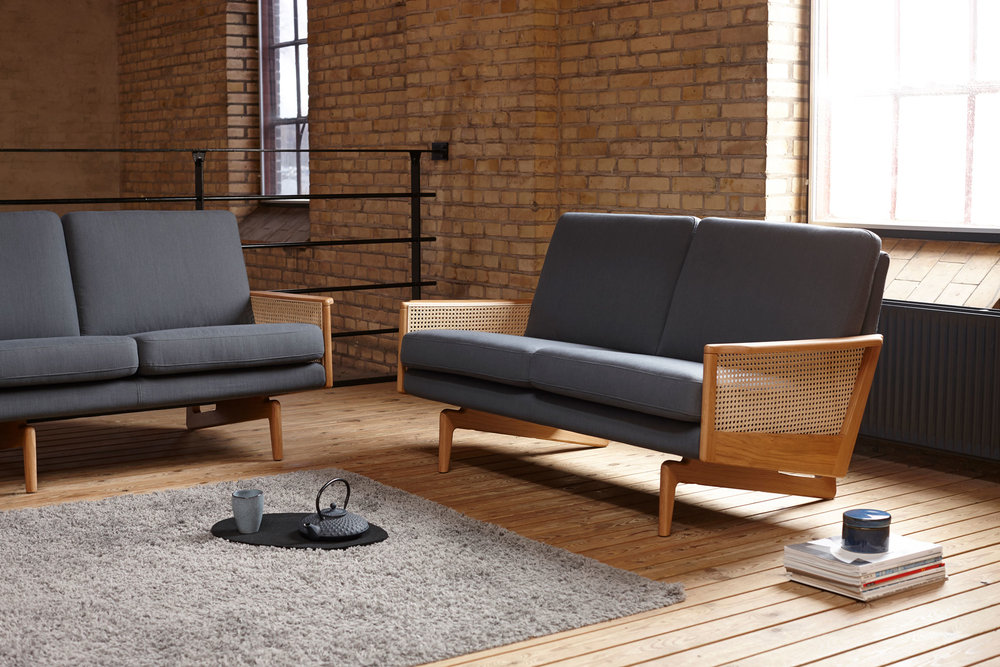 Egsmark  Sofa / Cane Webbing