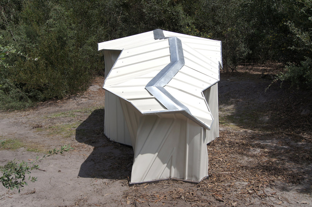 A Room for Things , 2014 Steel Chief Colourbond shed, steel, paint, polyester resin 212 x 510 x 227cm   Mc Clelland Survey & Award 2014 (Finalist)