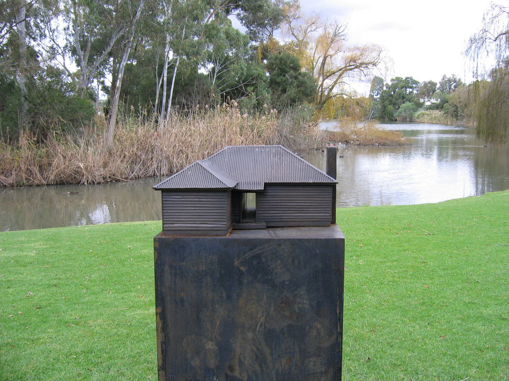Dwelling,  2005 Bronze 30 x 60 x 60cm  Moreland Sculpture Prize, winner 1st prize