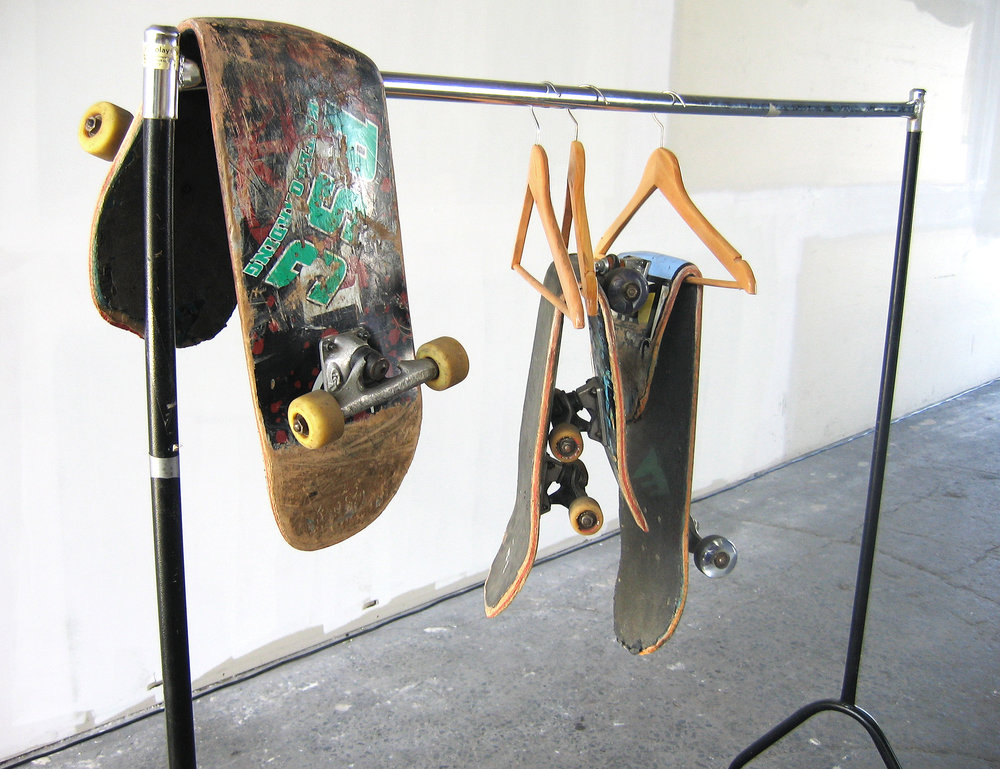 Skateboard Series , 2008 Skateboard, Mixed Media Dimensions Variable   Motor 08 , curated by Jason Waterhouse, Docklands