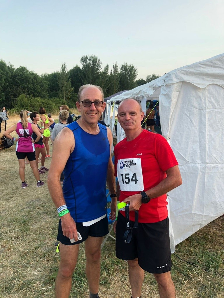 - Martin & Martin entered the Spitfire Scramble back in November 2017, initially thinking we would form a team of more than two.  We asked a few running friends who initially showed some interest but later declined due to other commitments - we decided to not bother asking anymore else and go it alone as a pair.  We looked at last years results and thought if we could run 18 laps or more we could do pretty well - and so the journey started.