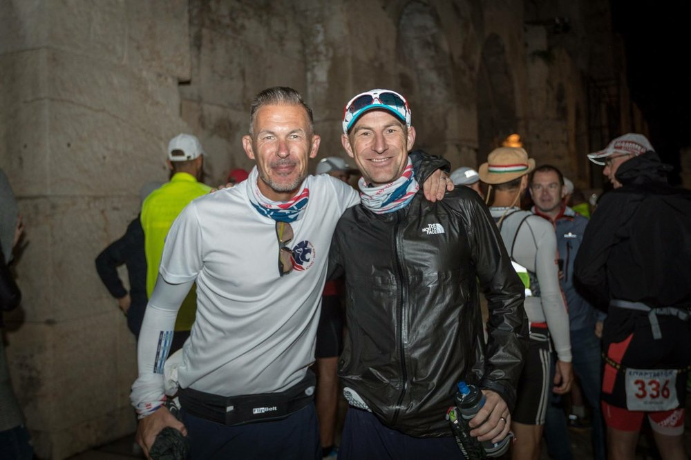 Let the games begin - with 3 time finisher and best bud James Ellis. Photo Credit Chris Mills.