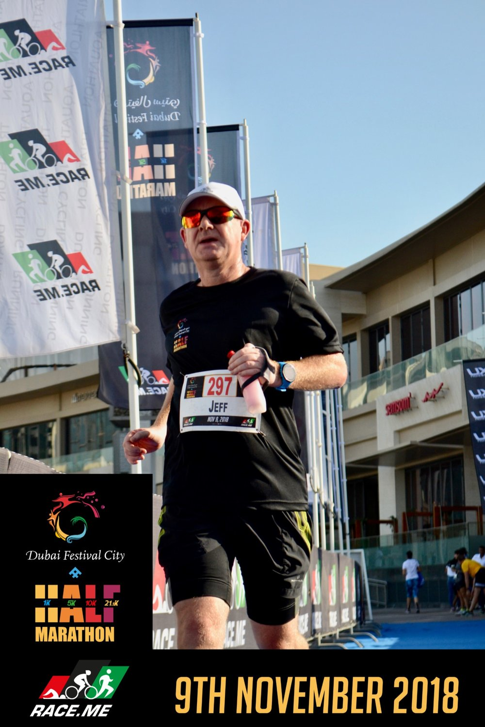 Jeff Strachan Dubai Marathon.. - Jeff has just blown us away with his continued determination. A very keen footballer until his late 30s and having finally succumbed to the realisation that twisting and turning isn't so good on a body beyond a certain vintage, Jeff is a relative newcomer to the sport.Jeff has been inspired to run partly by his experiences crewing us at ultras, and realising that this beautiful world of running is very accessible to all. Having dabbled in 5ks and 10ks he has very bravely thrown his hat into the marathon ring and will run his debut marathon in Dubai at the end of January 2019.daznbone have been planning and monitoring Jeff's training since mid September and we are very excited with his progress. He's probably our most consistent athlete and his fitness graphs on Training Peaks are a work of art. Jeff has been cleverly using a steady build-up of low key races in Dubai (where he lives and works), going through 10k and 10 mile trail races up to a recent half marathon where he was so so close to busting the 2 hour mark.We're delighted with Jeff's build-up so far and can't wait to see him take on the Dubai marathon.