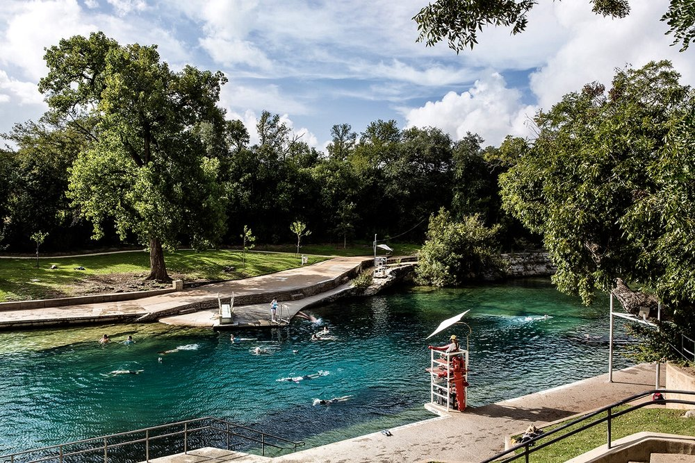 Barton Springs Pool is located in Zilker Park