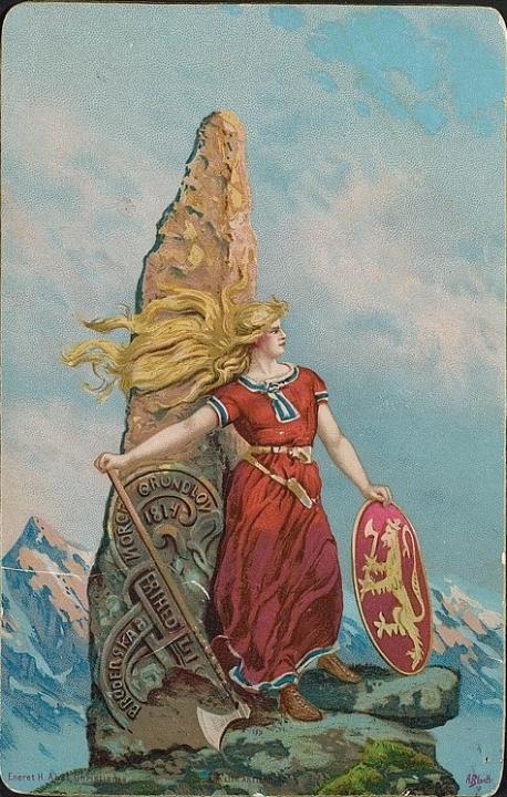 Mythische Noorse afbeelding uit 1905, Andreas Bloch