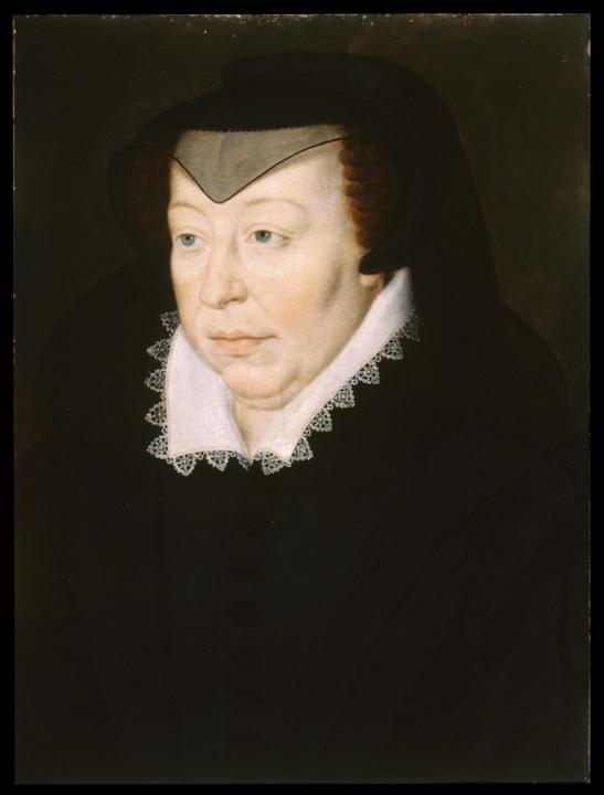 Catharina de' Medici geportretteerd als weduwe, circa 1580.