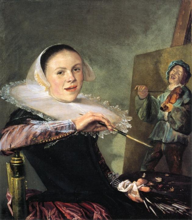 Zelfportret Judith Leyster, ca. 1630