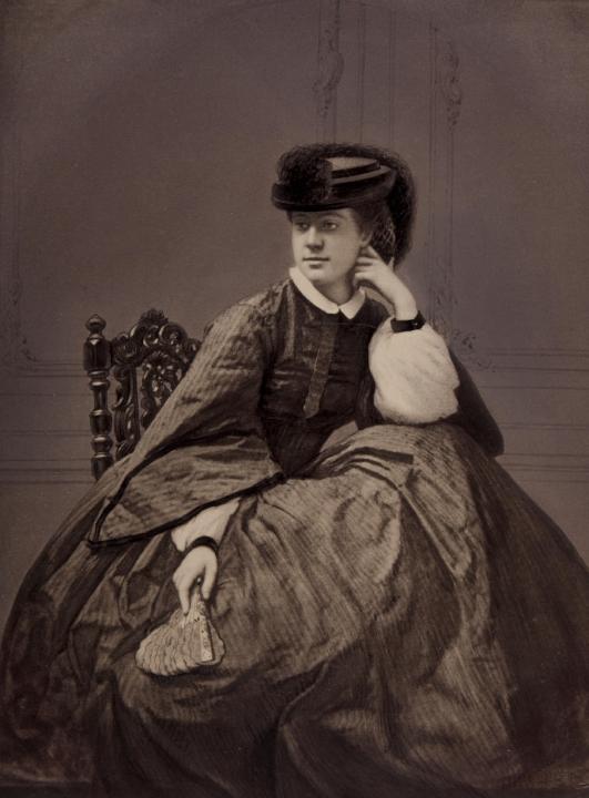 Alexandrine Tinne door fotograaf Robert Jefferson Bingham, circa 1855-1860.
