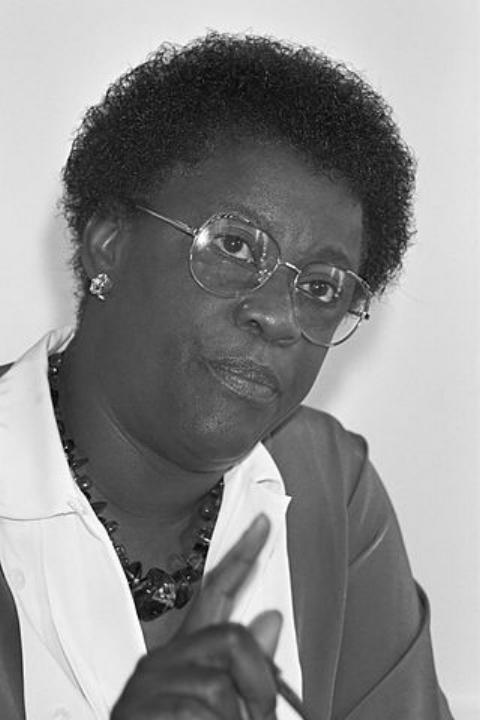 Antiliaanse premier Liberia Peters tijdens persconferentie, 20 juni 1988,  Nationaal archief.