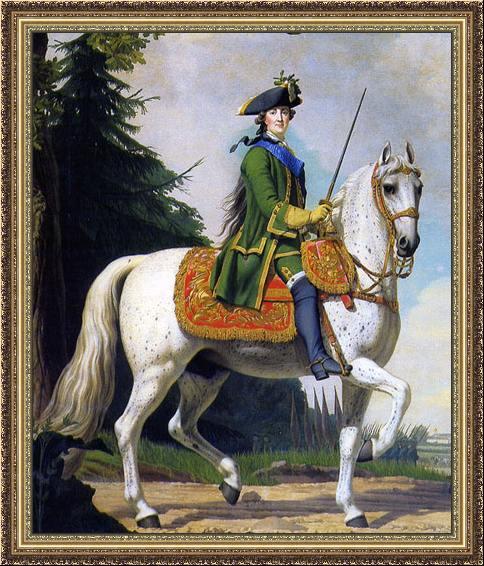 Catharina de Grote te paard, 1762.