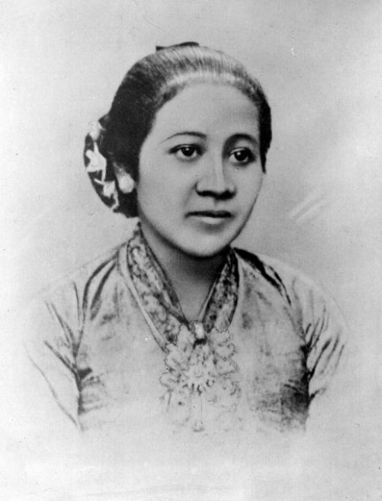 Portret van Raden Ajeng Kartini gemaakt rond 1900, collectie Tropenmuseum.