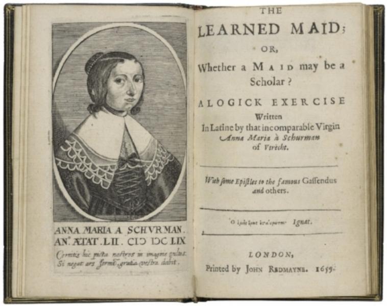 De Engelse vertaling van Anna Maria van Schurman's artikel uit 1659 waarin ze schrijft dat vrouwen net als mannen moeten kunnen studeren.