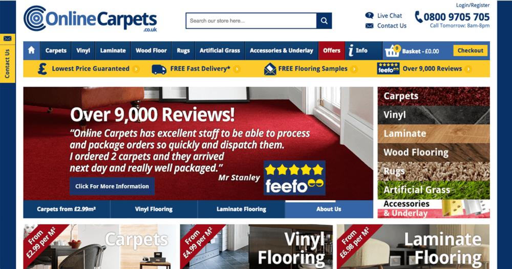 online carpets homepage image