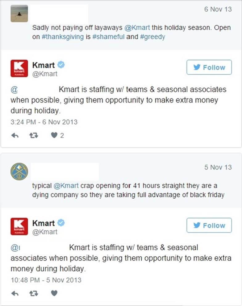 Kmart robotic-like statement