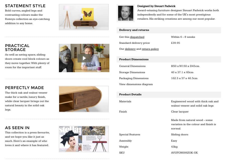 made.com product description