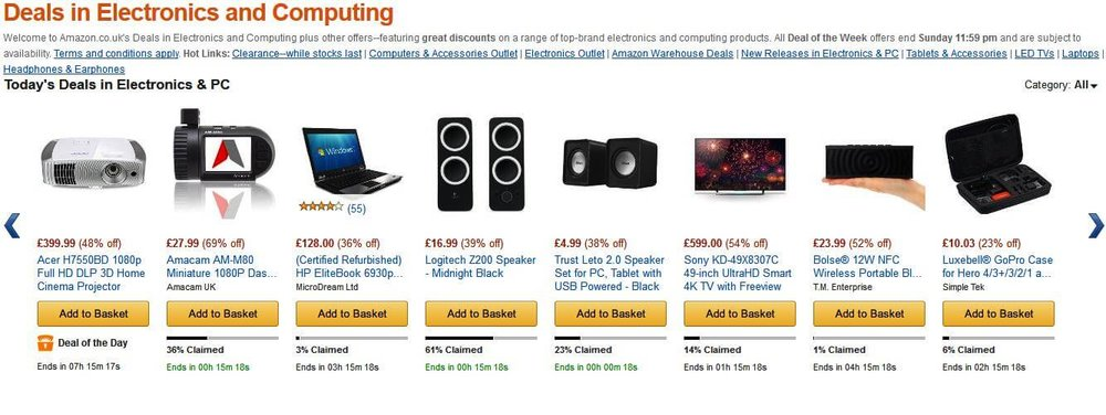 Amazon smart layout