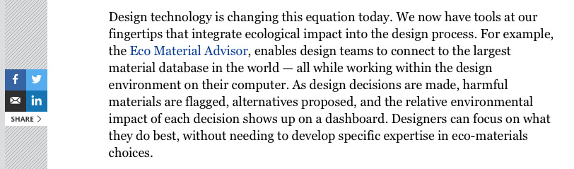 Forbes Autodesk blog post excerpt referencing Granta Design
