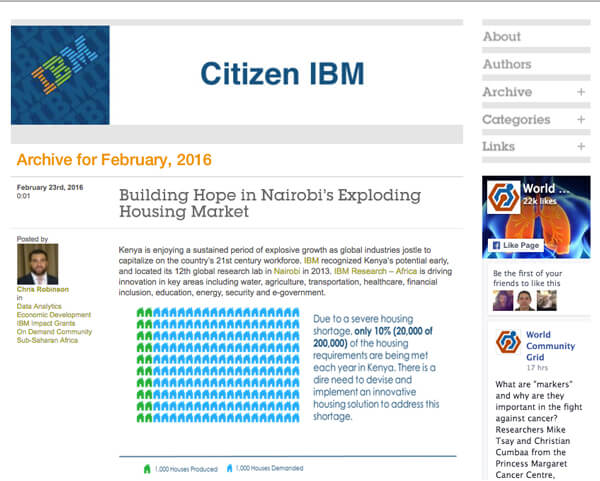 citizen IBM blog image example of good content marketing 2