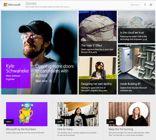 microsoft stories good content marketing example