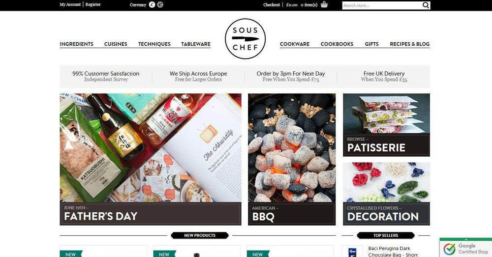Sous Chef Landing Page