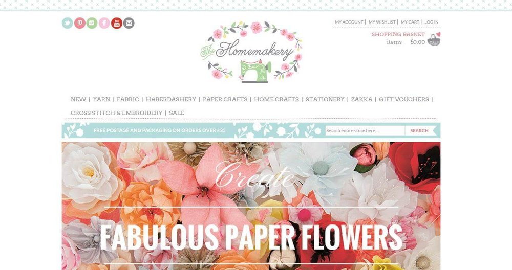 The Homemakery landing page