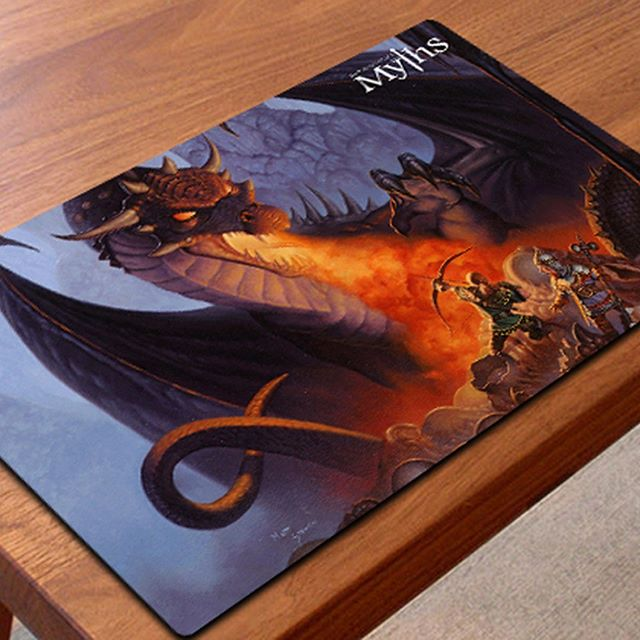 We just recently added 24 x 14 inch Gaming Playmats to the Store. Check out all 5 designs at https://www.stawickimyths.com #mtg #playmats #tradingcardgames