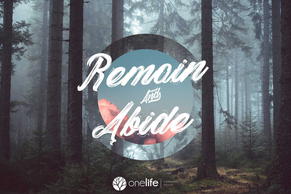 Remain & abide - Three-week series in November 2018!
