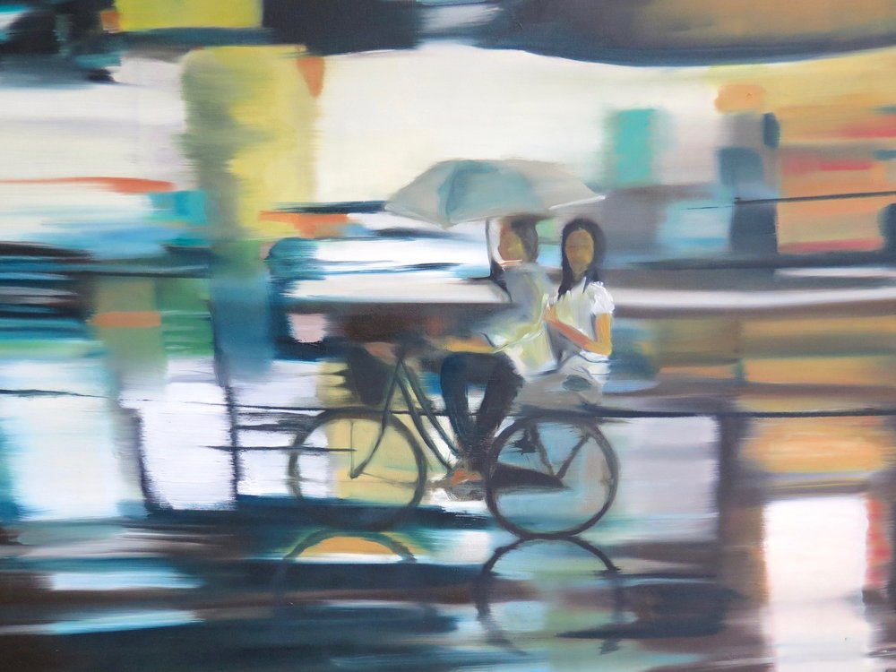 Night Bazaar  Oil on Canvas 140 x 90