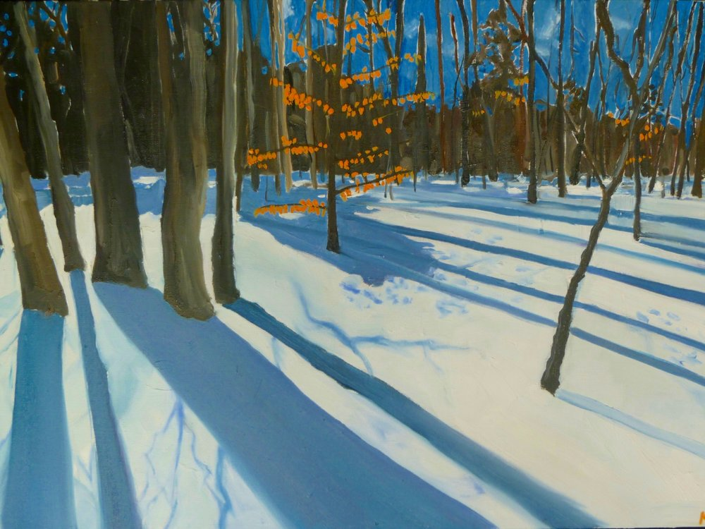 Algonquin  Oil on canvas 80 x 60 - SOLD