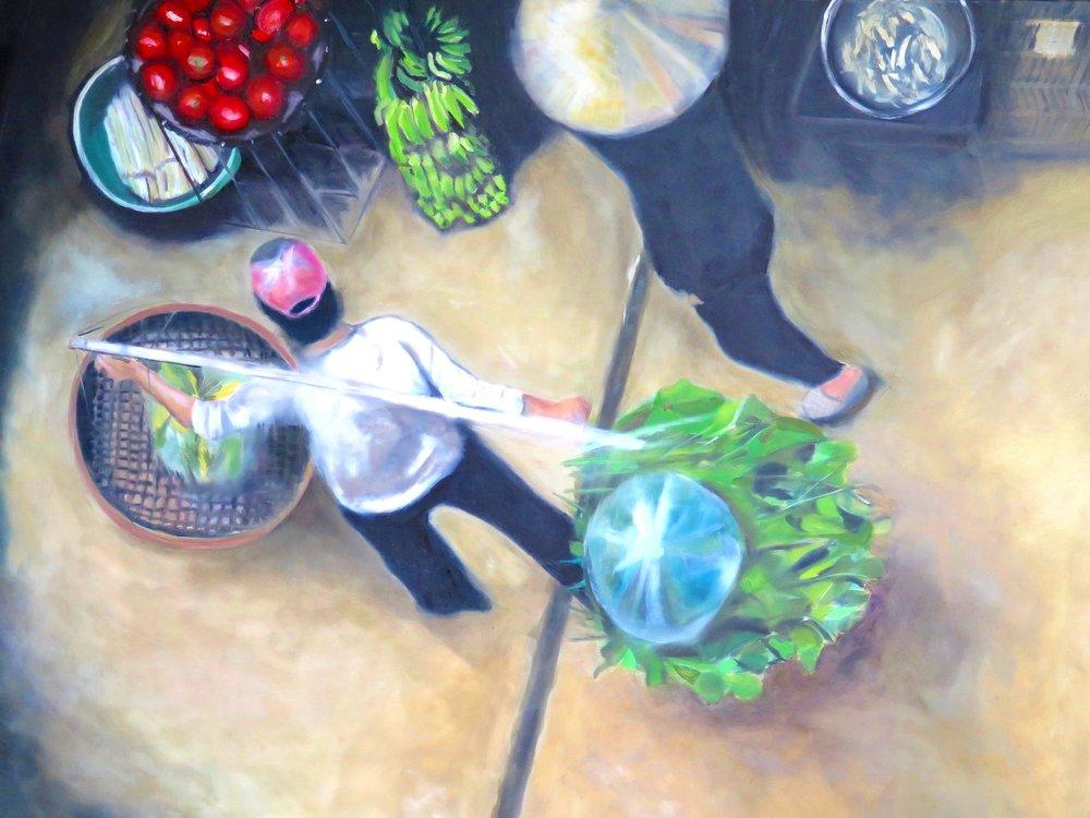 Long Bien  Oil on Canvas 150 x 110 - SOLD